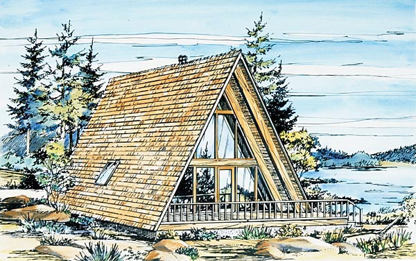 A-Frame House Plan 57368 Elevation