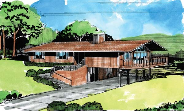 House Plan 57370 Elevation