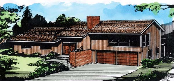 House Plan 57373 Elevation