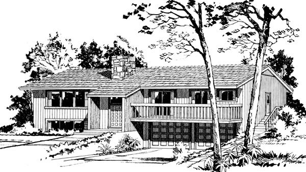 House Plan 57375 Elevation