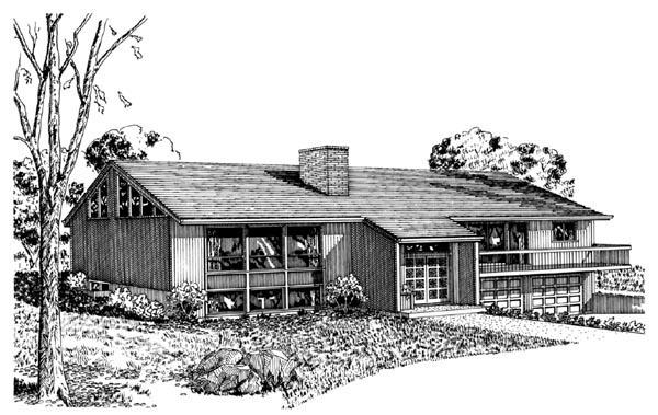 House Plan 57376 Elevation