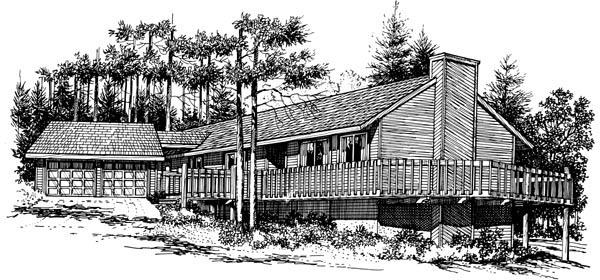 House Plan 57377 Elevation