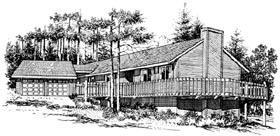 House Plan 57378 Elevation
