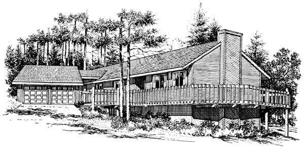 House Plan 57378 Elevation