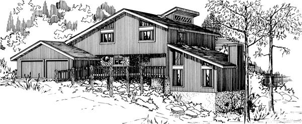 House Plan 57379 Elevation