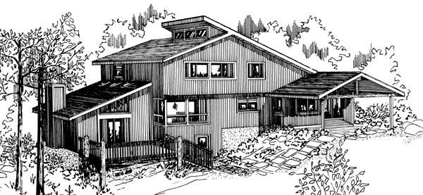 House Plan 57379 Rear Elevation