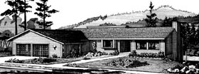 Ranch House Plan 57382 Elevation