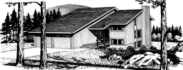 House Plan 57383 Elevation