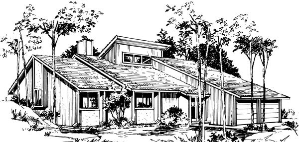 One-Story , Elevation of Plan 57384
