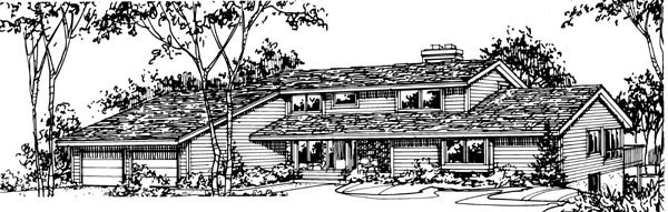 House Plan 57385 Elevation