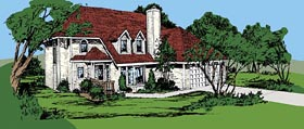 Country House Plan 57386 Elevation