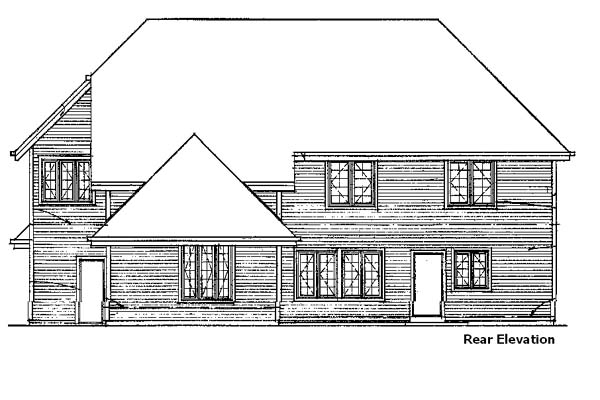 Country House Plan 57386 Rear Elevation