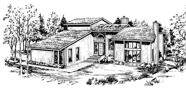 House Plan 57387 Elevation