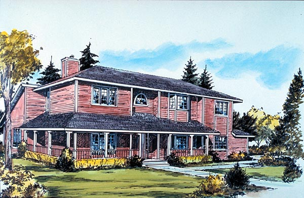Country House Plan 57388 Elevation