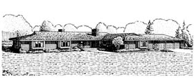 Ranch House Plan 57396 Elevation