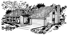 House Plan 57397 Elevation