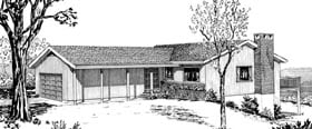 Ranch House Plan 57400 Elevation
