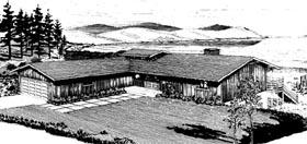 Contemporary Retro House Plan 57402 Elevation