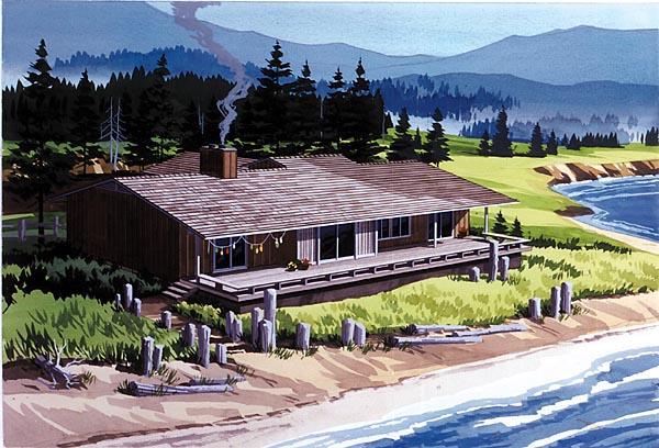 Contemporary Retro House Plan 57402 Rear Elevation
