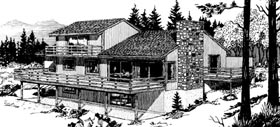 Cabin House Plan 57405 with 3 Beds, 3 Baths, 2 Car Garage Elevation