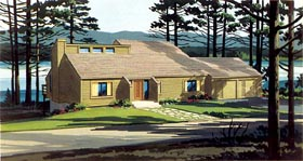 Cabin House Plan 57406 Elevation
