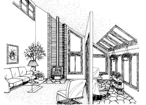 Cabin House Plan 57407 with 4 Beds, 3 Baths, 2 Car Garage Picture 1