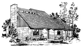 European House Plan 57408 with 4 Beds, 3 Baths, 2 Car Garage Elevation