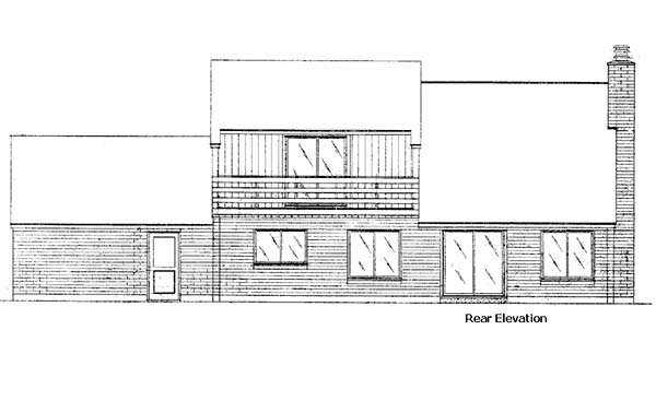 European Rear Elevation of Plan 57408