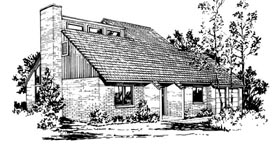 House Plan 57409 Elevation