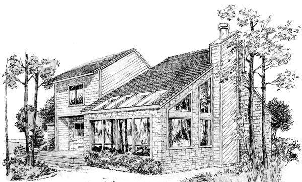 House Plan 57409 Rear Elevation