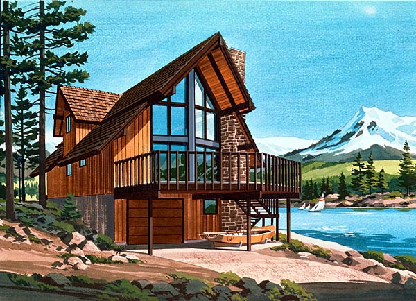 Ranch House Plan 57411 Elevation