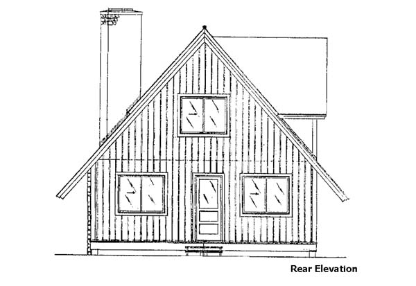 Ranch House Plan 57411 Rear Elevation