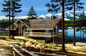 House Plan 57413 | Ranch Style Plan with 1392 Sq Ft, 2 Bedrooms, 2 Bathrooms Elevation