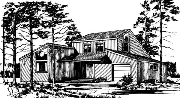 House Plan 57418 Elevation