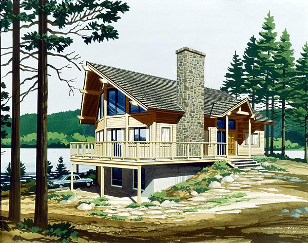 Cabin House Plan 57420 Elevation