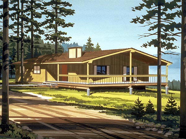 Ranch House Plan 57421 Elevation
