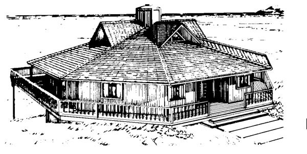 House Plan 57422 Elevation