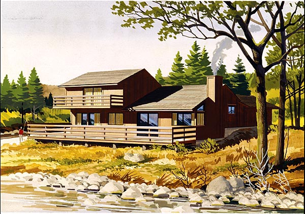 House Plan 57423 Elevation