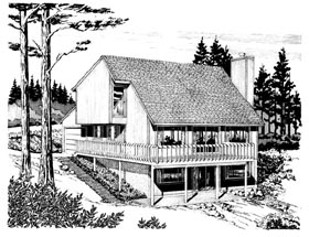 Cabin House Plan 57425 Elevation