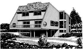 House Plan 57428 Elevation