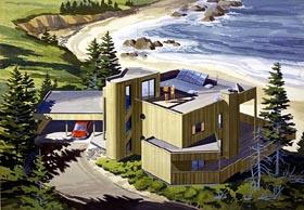 Contemporary Modern House Plan 57429 Elevation