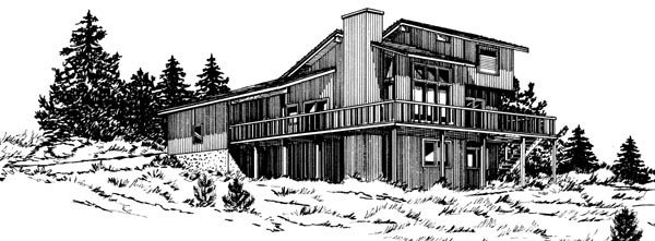 Cabin House Plan 57430 Elevation