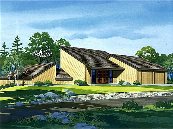 House Plan 57431 Elevation