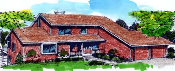 Contemporary Retro Traditional House Plan 57434 Elevation