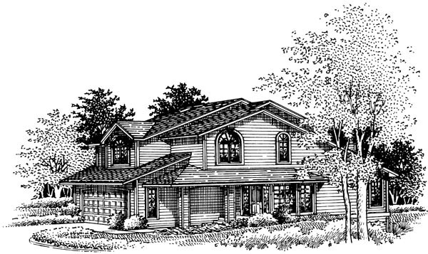 Country House Plan 57435 Elevation