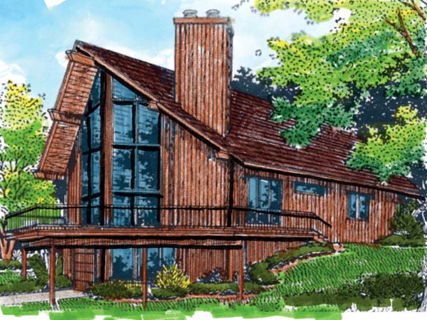 A-Frame House Plan 57438 Elevation