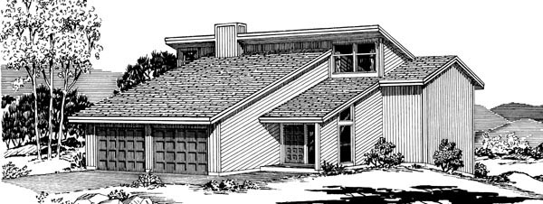 Cabin House Plan 57445 Rear Elevation