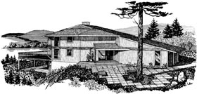 House Plan 57449 with 2 Beds, 2 Baths, 2 Car Garage Elevation
