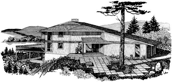 House Plan 57449 Elevation