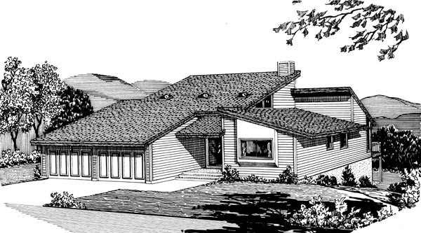 House Plan 57450 Elevation